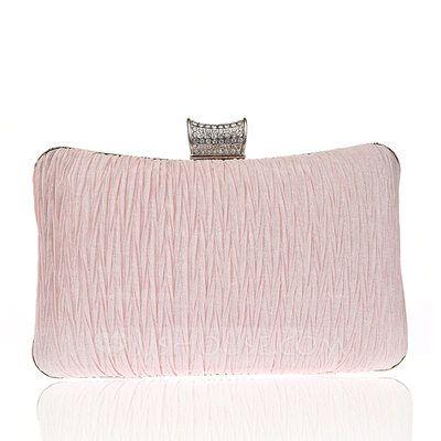 3db4042b48  US  24.00  Elegant Satin Clutches Wristlets Bridal Purse Fashion Handbags Makeup  Bags Luxury Clutches (012141815)