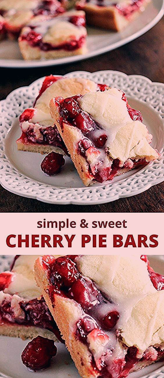 Photo of Simple and Sweet Cherry Pie Bars Recipe   Mom Spark – Mom Blogger