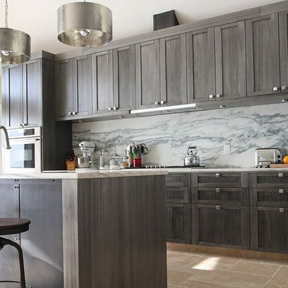 Best 25 gray stained cabinets ideas on pinterest for Grey and white kitchen cabinets