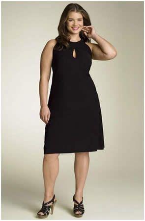4884fd2ea Vestido corto en color negro para gorditas | vestidos de fiesta para ...