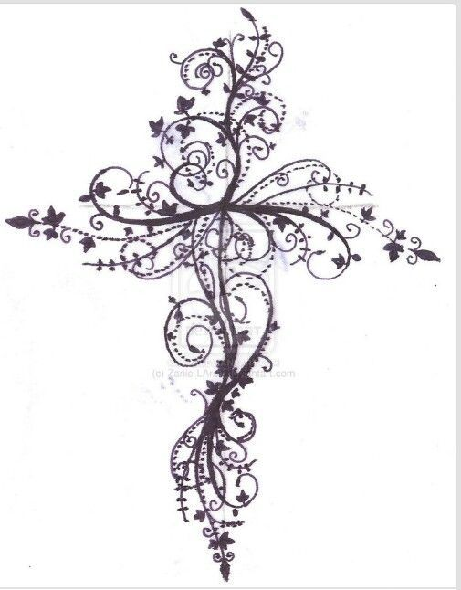 An zentangle cross drawing