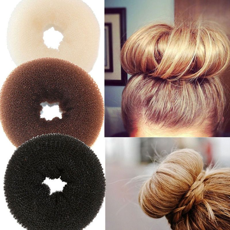 Hot Bun Wraps Black Brown Blonde Large Hair Bun Donut Hair Accessories Hair Donut Donut Bun Hairstyles Hair Bun Maker