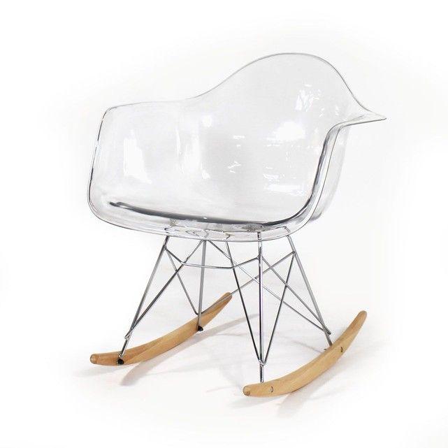 Rocking Chair Design En Plexi Style Scandinave Px My