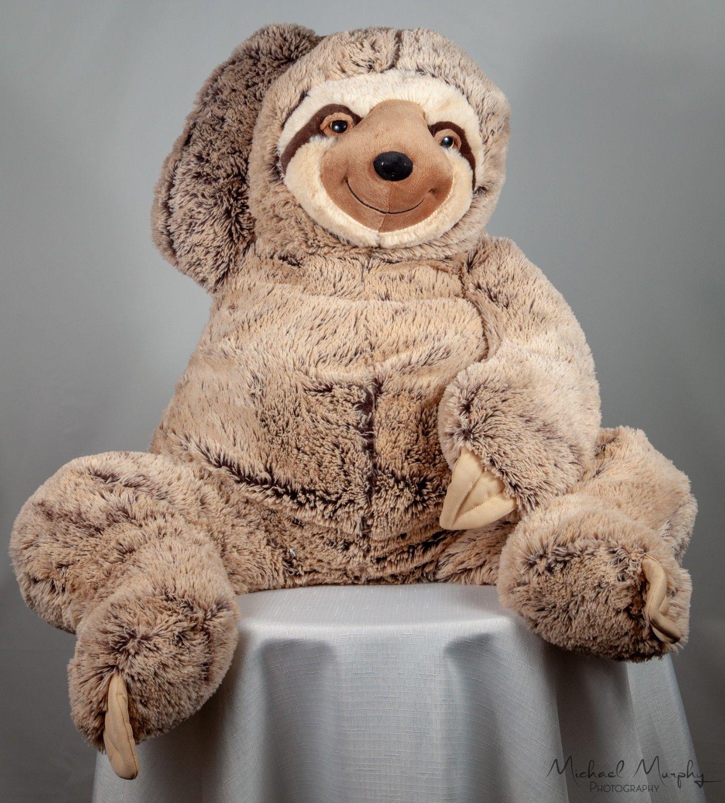 Blue Big Teddy Bear, Sloth Brown Huge Jumbo Extra Large Hugfun Stuffed Animal Plush 36 Long Peluches Perezoso