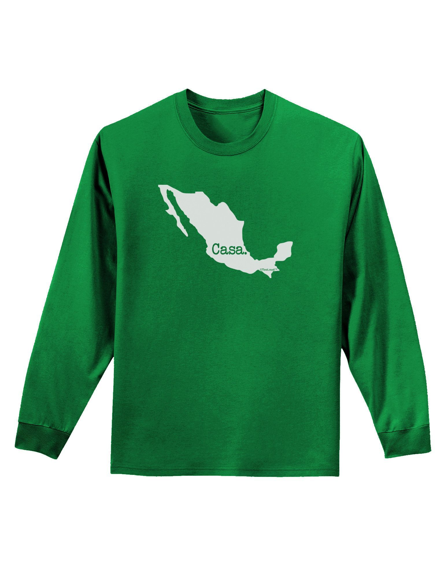 TooLoud Mexico - Casa - Cinco De Mayo Adult Long Sleeve Dark T-Shirt