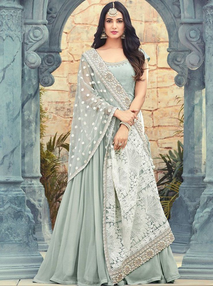 9af625159d indian woman wedding wear Party Wear Bollywood style KT-1016 Multi CHANDERI  COTTON WITH DIGITAL PRINT Gown-FC-9138 | | Faminacreation