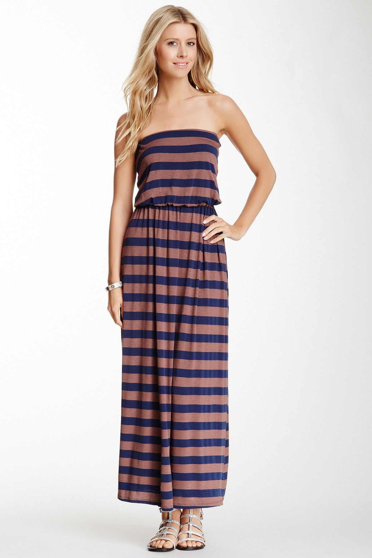 Frenzii striped maxi dress fashion women pinterest striped