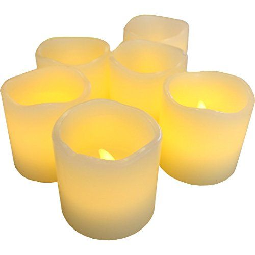 "Flameless Votive Candles Led Lytes Flameless Candles Battery Operated Votive Set Of 6  2""x"