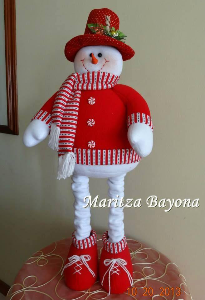 Nieve de pié cosas Navidad Pinterest Nieve, Navidad y Muñecos