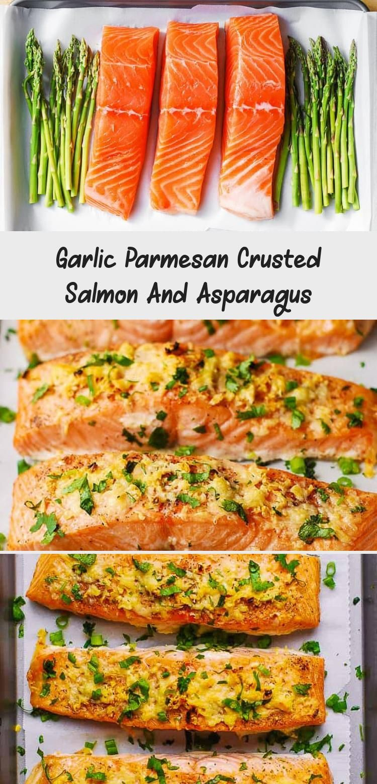 Photo of Garlic Parmesan Crusted Salmon And Asparagus – Healthy Recipes
