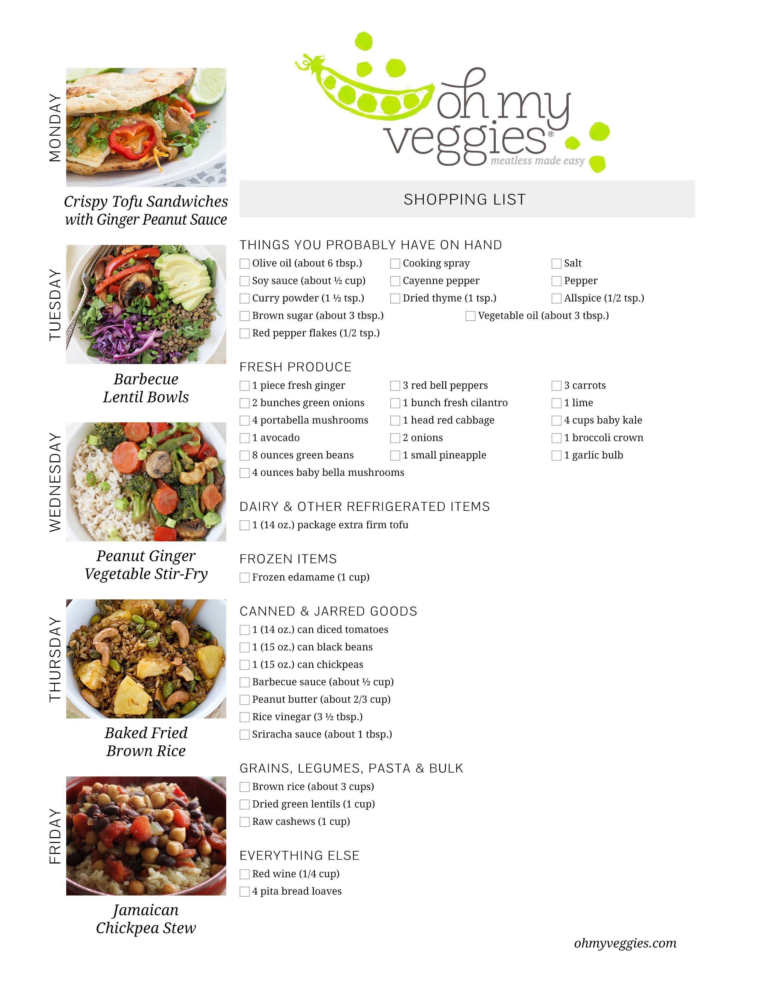 Vegan Meal Plan | 02 27 17 | aldi meal plan