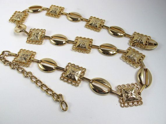 Check out this item in my Etsy shop https://www.etsy.com/listing/230044648/vintage-gold-chain-belt