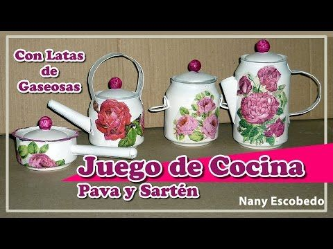 Cocina Youtube | Olla Y Cafetera Con Latas De Gaseosas Juego De Cocina Youtube