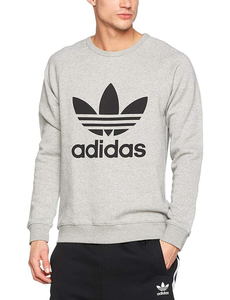 Adidas Men S Originals Trefoil Crew Sweatshirt Trendy Sweatshirt Sweatshirts Hoodie Sweatshirts Outfit [ 1024 x 788 Pixel ]