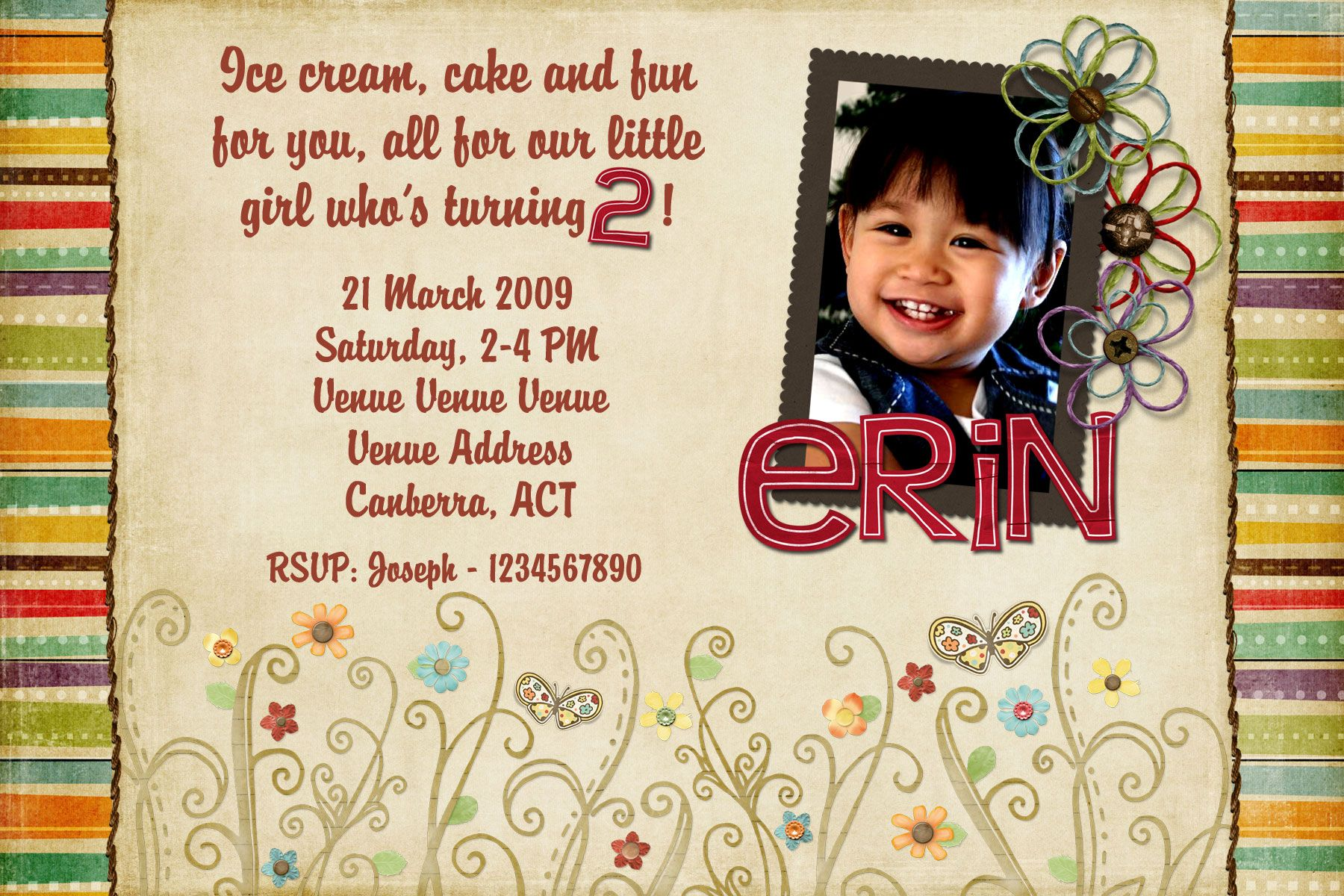 Get 2 Year Old Birthday Invitations Download This Invitation For FREE At