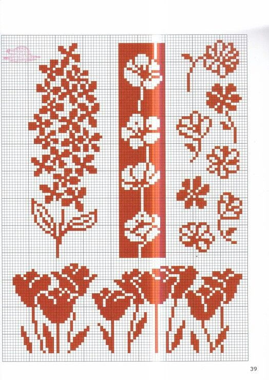 Stranded color work chart ; non-traditional Fair Isle - I like the ...