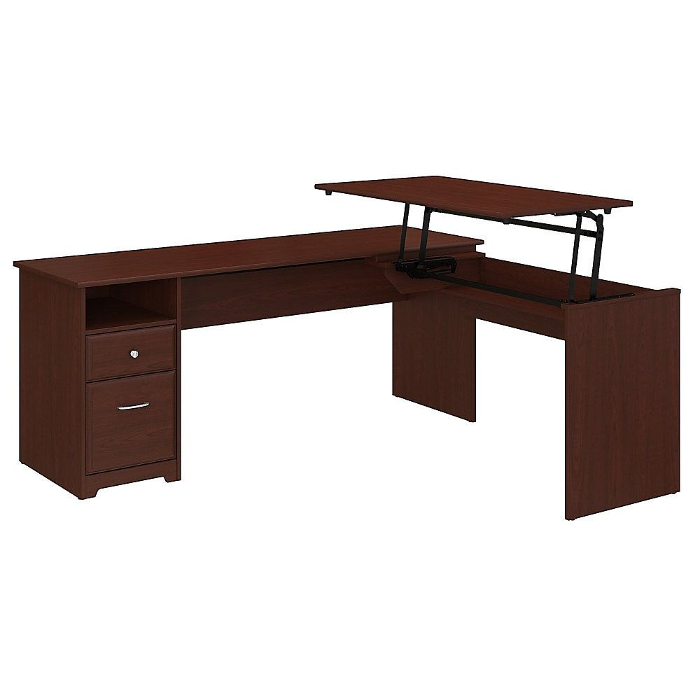 Bush Furniture Cabot 3 Position L Shaped Sit To Stand Desk 72 W