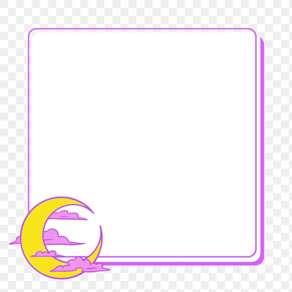 Pop Art Yellow Crescent Moon With Pink Clouds Frame Design Element Free Image By Rawpixel Com Ningzk V In 2020 Pink Clouds Illustration Design Element