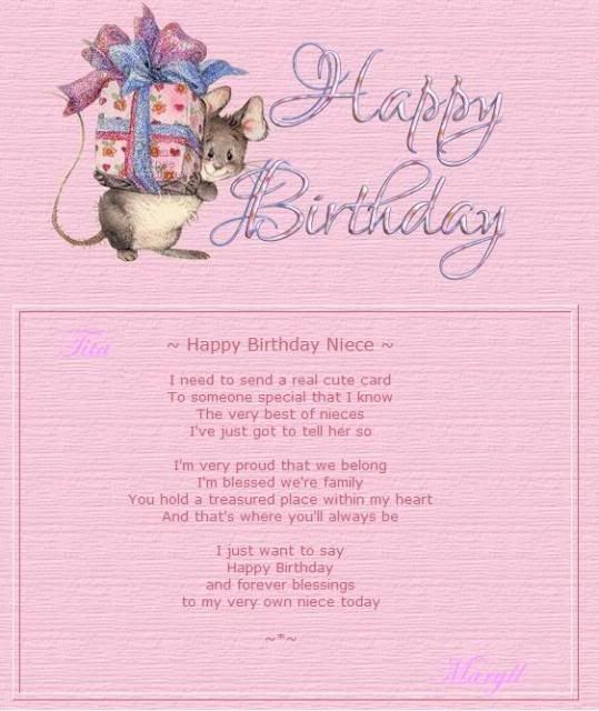 Happy Birthday To My Lovely Niece Ronnine May You Have A