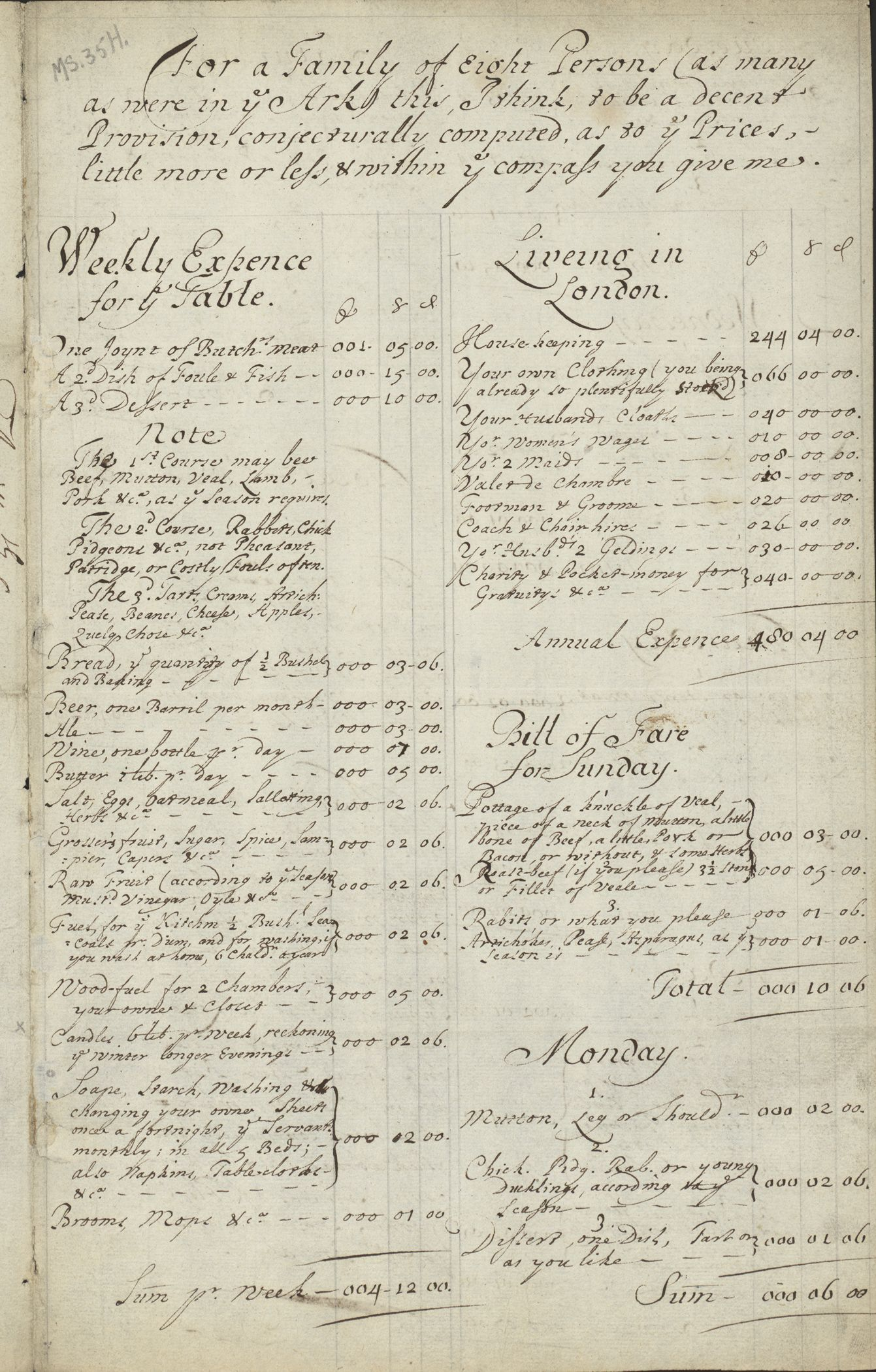 Letter Reveals Lessons In Seventeenth Century Home