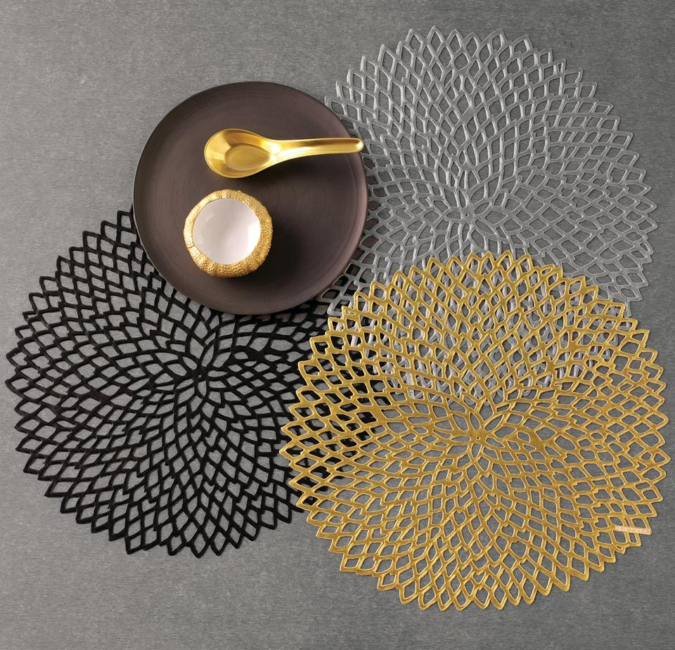Chilewich Dahlia Round Placemat Placemats Chilewich Placemat Sets