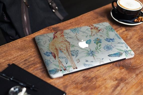 Cute Giraffe MacBook Air 13 Skin Floral MacBook Air 13 Decal | Etsy