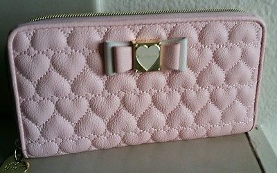 New Ladies Womens Faux Leather Quilted Pattern Zipped Wallet Purse
