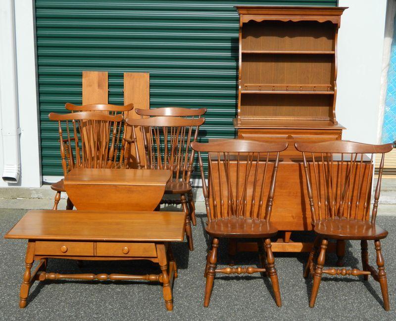 Heywoodwakefield & Sprague Carlson Furniture Including Sprague Alluring Maple Dining Room Table Design Decoration