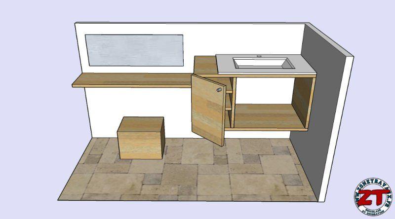 Fabriquer meuble vasque salle de bain Décoration intérieure