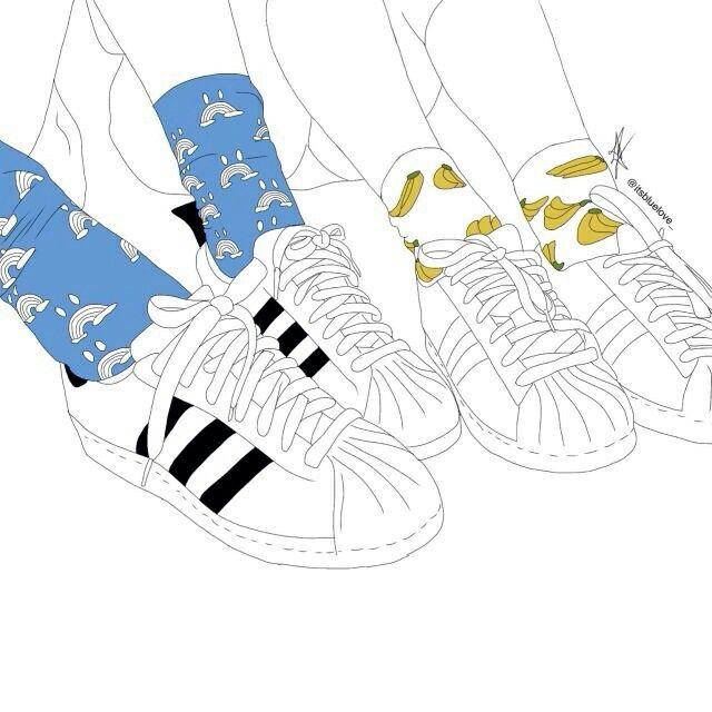 adidas superstar and socks
