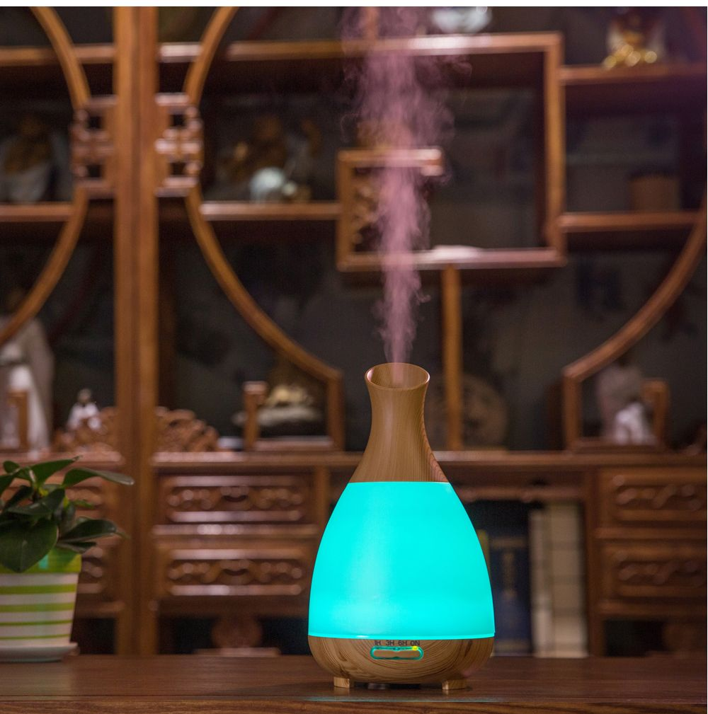 200ml Mist Maker Nebulizer Humidifier Essential Oil Aroma Diffuser Ultrasonic Humidifier with LED Lights
