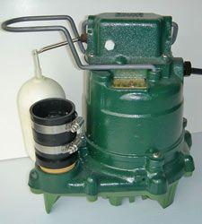 closeup of a zoeller® sump pump system a cast iron design and closeup of a zoeller® sump pump system a cast iron design and plastic