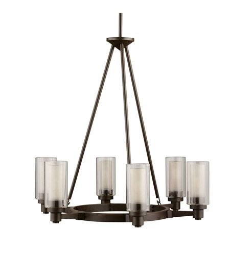 Kichler Lighting Circolo 6 Light Chandelier in Olde Bronze 2344OZ #kichler #lightingnewyork #undercabinetlighting #outdoorlighting #lighting