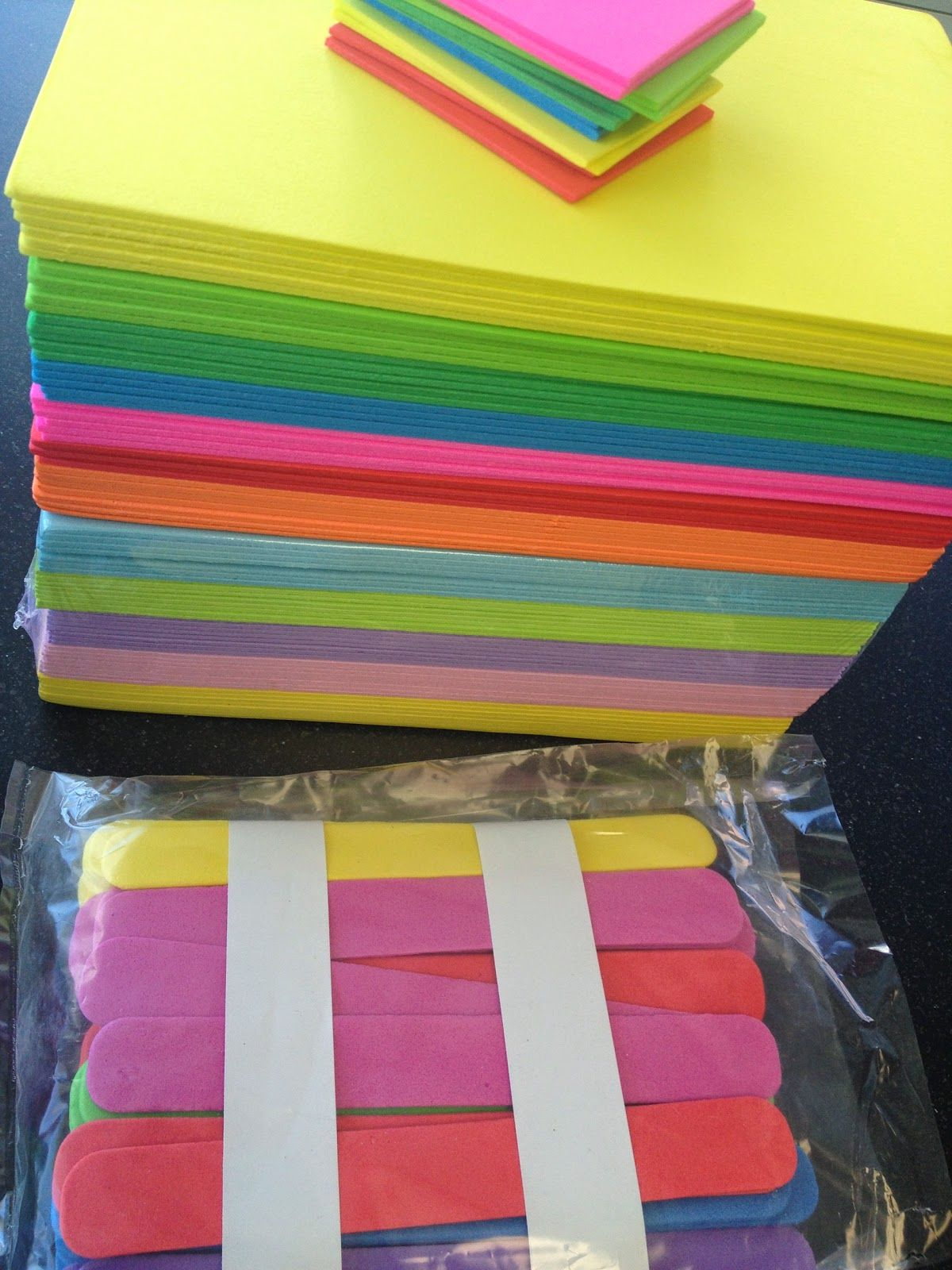 Write On Craft Foam With Sharpie To Make Durable Sorting