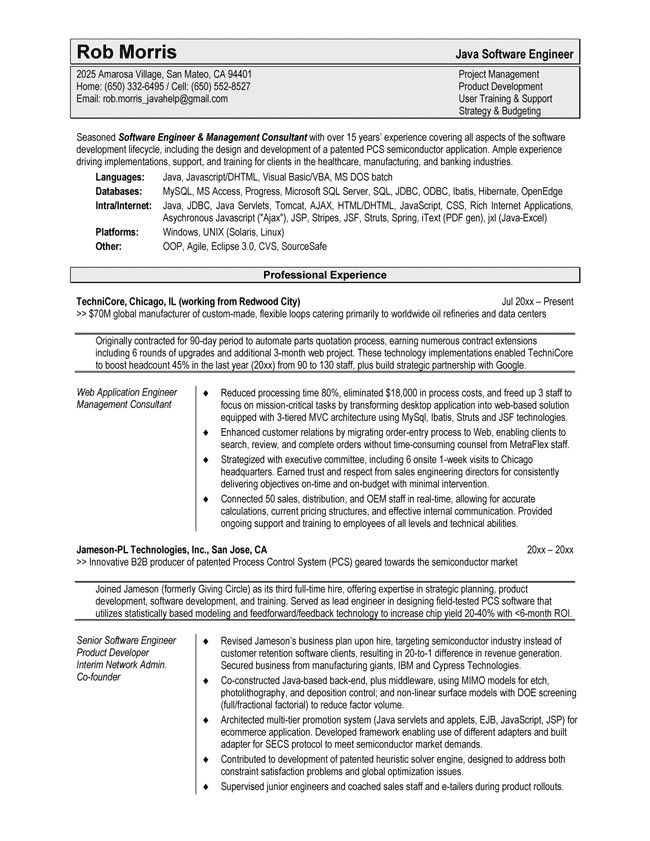 Software Engineer Resume Template For Word  HttpWww