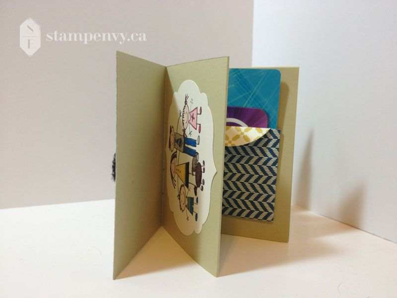 Www Stampenvy Ca Stampin Up Mini Book Gift Card Holder You Re