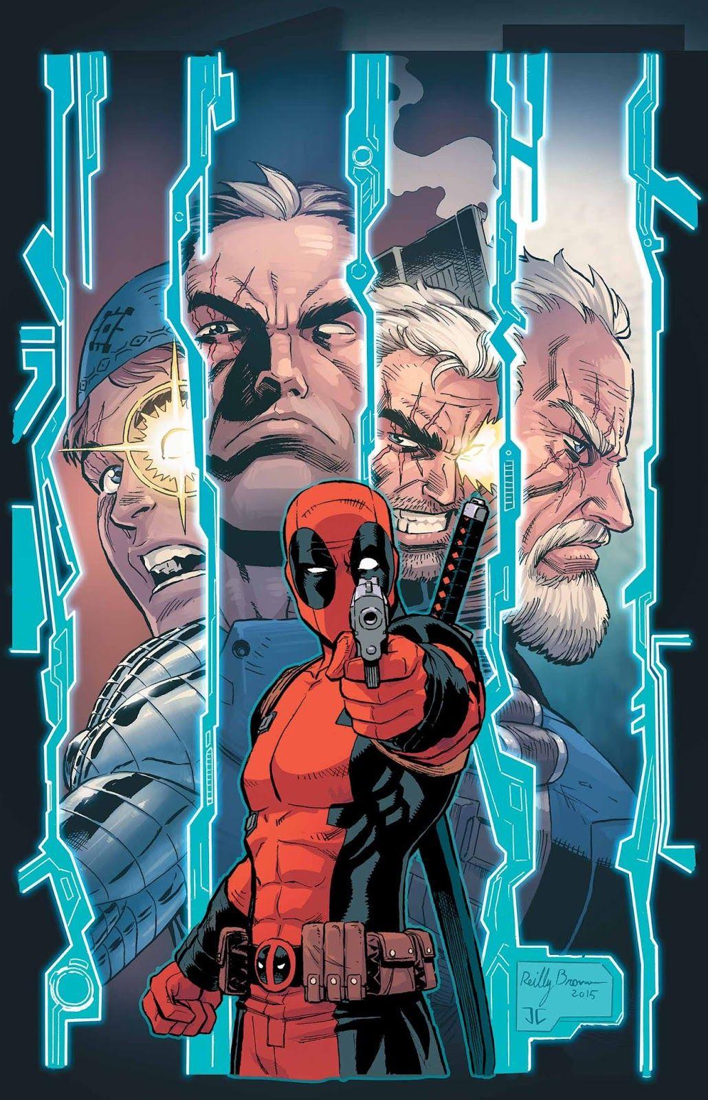 #Deadpool #Fan #Art. (Deadpool & Cable: Split Second Vol.1 #3 Variant Cover) By: Reilly Brown. (THE * 3 * STÅR * ÅWARD OF: AW YEAH, IT'S MAJOR ÅWESOMENESS!!!™)[THANK Ü 4 PINNING!!!<·><]<©>ÅÅÅ+(OB4E)