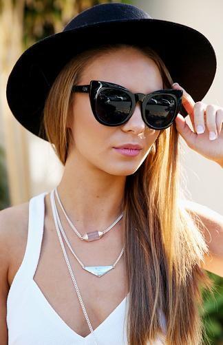 ffed310b33 Quay Australia - Cha Cha Sunglasses - Black