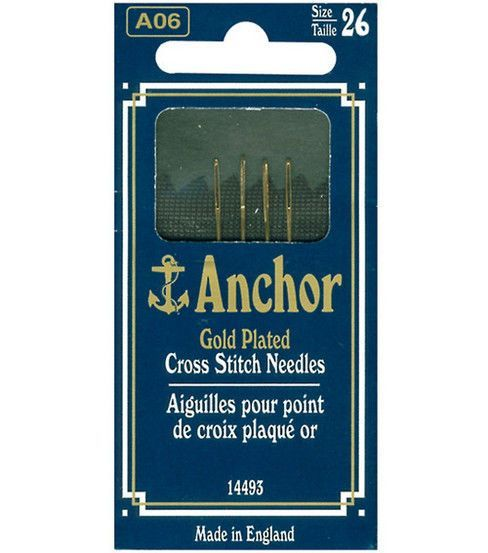 Anchor Gold-Plated Tapestry Needles-Size 26 4/Pkg