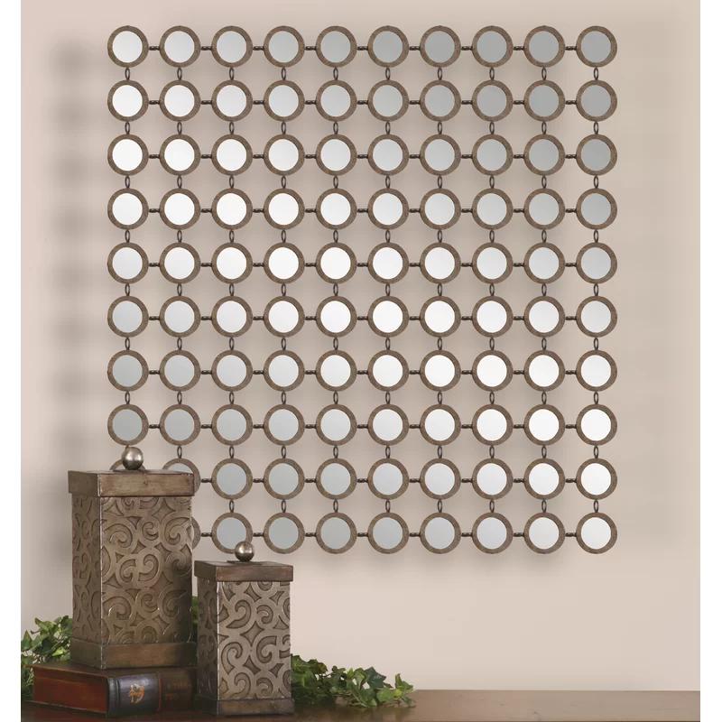 Willa Arlo Interiors Emblyn Square Metal Wall Mirror Reviews Wayfair In 2020 Eclectic Wall Mirrors Mirror Wall Contemporary Wall Mirrors