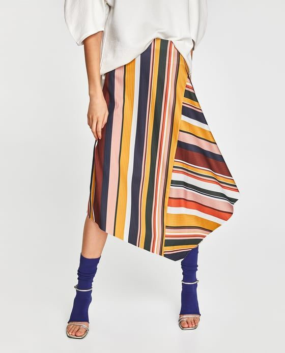 Image 2 of SKIRT WITH MULTICOLORED STRIPES from Zara