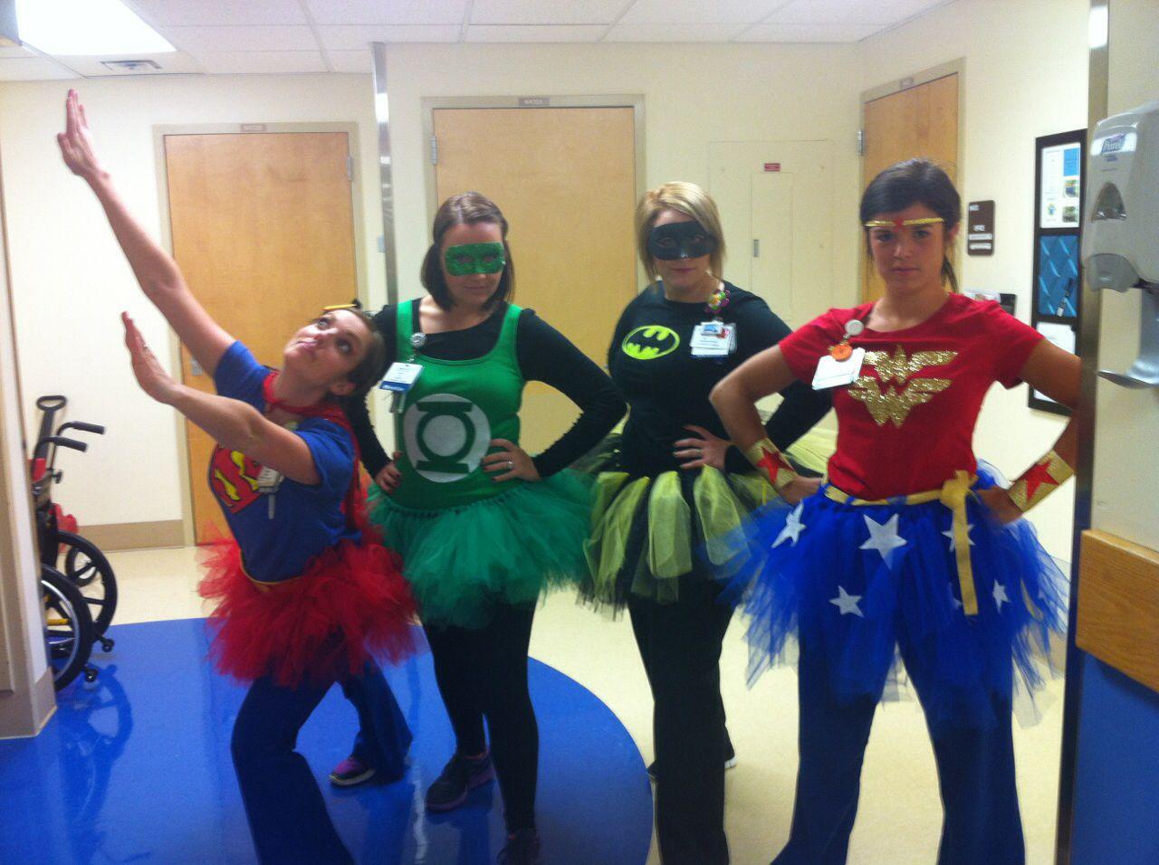 Halloween Costume Theme Ideas For Office.Superhero Halloween Costume For Pediatric Nurses I Love The