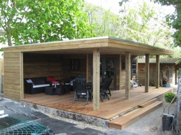 Tuinhuis back yard chillin cabane cabanon jardins - Baraque de jardin ...