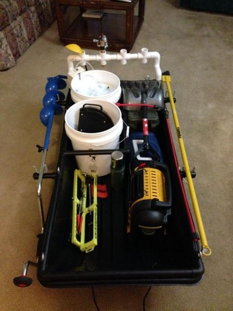 Image result for ice fishing sled modifications fishing for Ice fishing gear