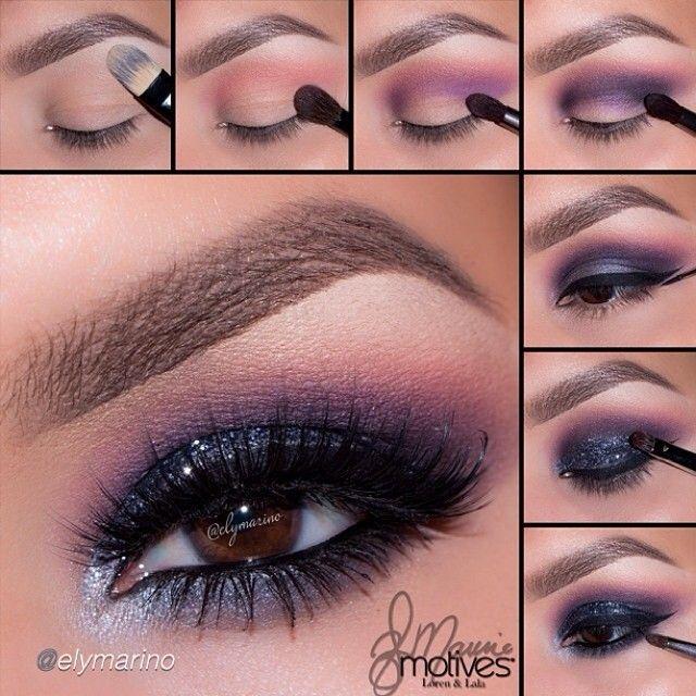 Purple shimmer night out makeup #tutorial #evatornadoblog