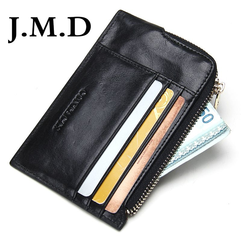 Jmd brand business card holder mens leather coin purses man credit jmd brand business card holder mens leather coin purses man credit card holders zipper pocket coin colourmoves Images
