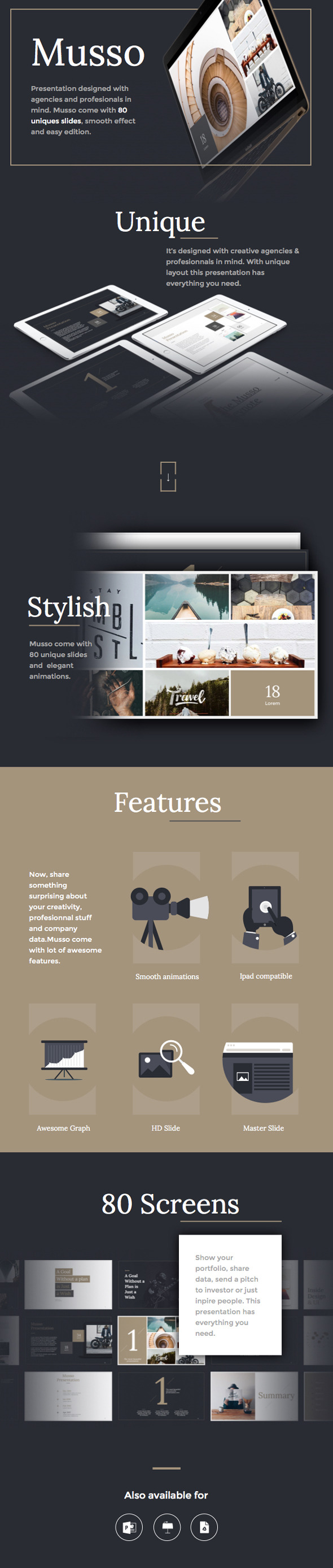 musso powerpoint presentation template #design #slides download, Presentation templates