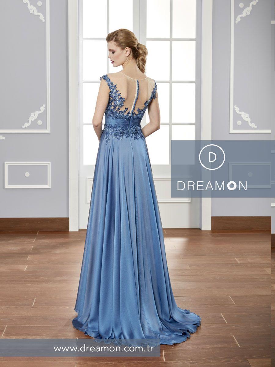 Buz Mavi Indigo Ve Kahverengi Renk Alternatifleriyle Sik Ve Agir Ely Modeli Uzerinde Tam Da Istedigin Gibi Duracak Www Dreamon Com T Couture Indigo Gelinlik