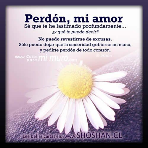 Perdon Mi Amor Carta Frases Perdoname Amor Amor Y Frases De Amor