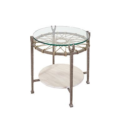 round accent table from the ernest hemingway collection at rh pinterest com